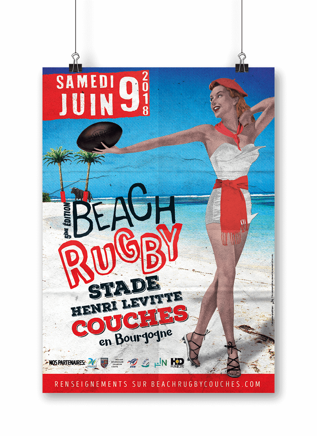 Mock up de beach rugby