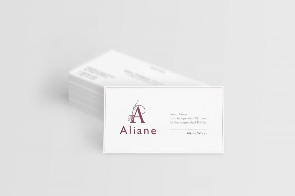 Cartes de visite Aliane Wines