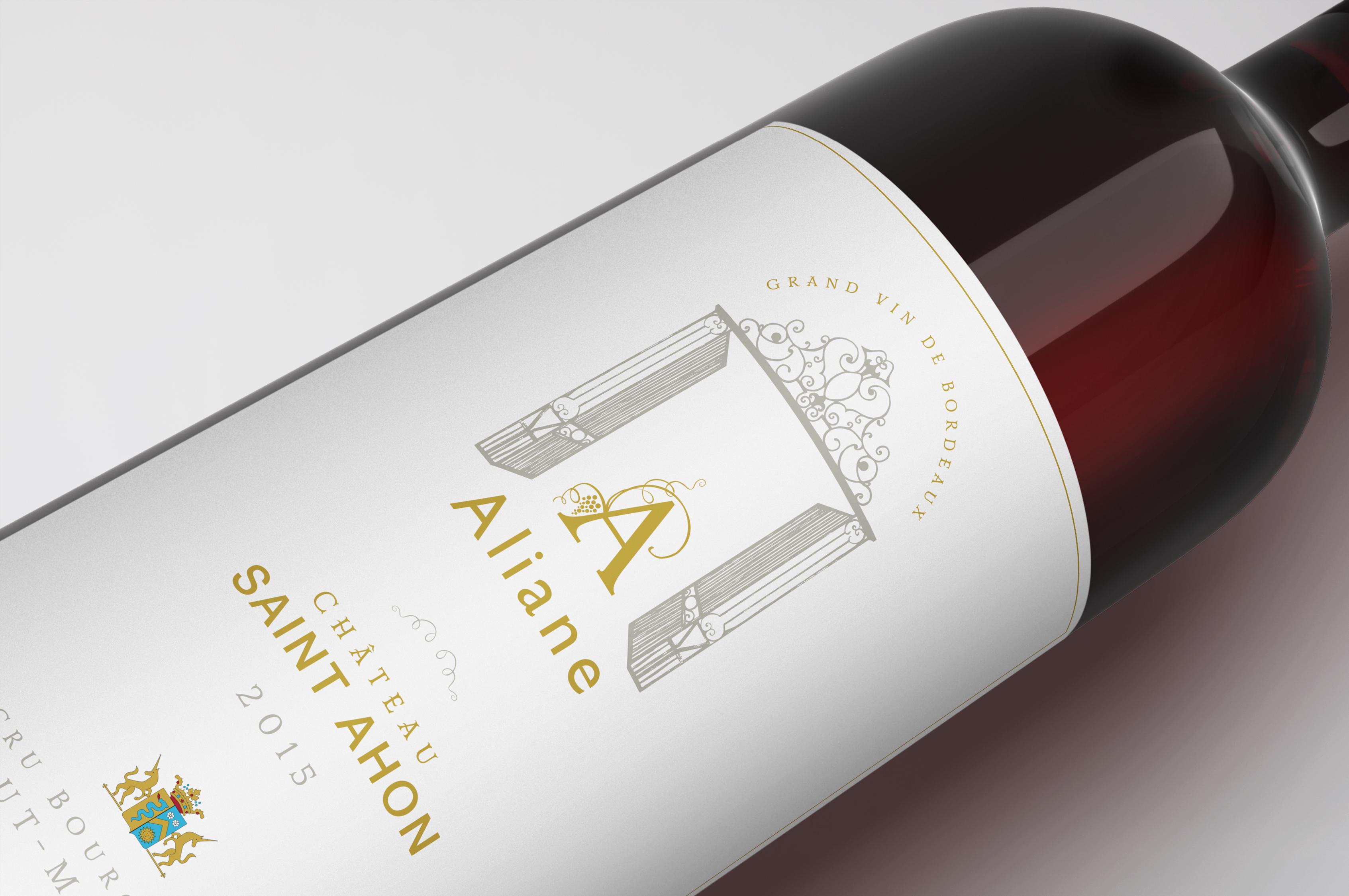 étiquettes de vin Château Saint Ahon