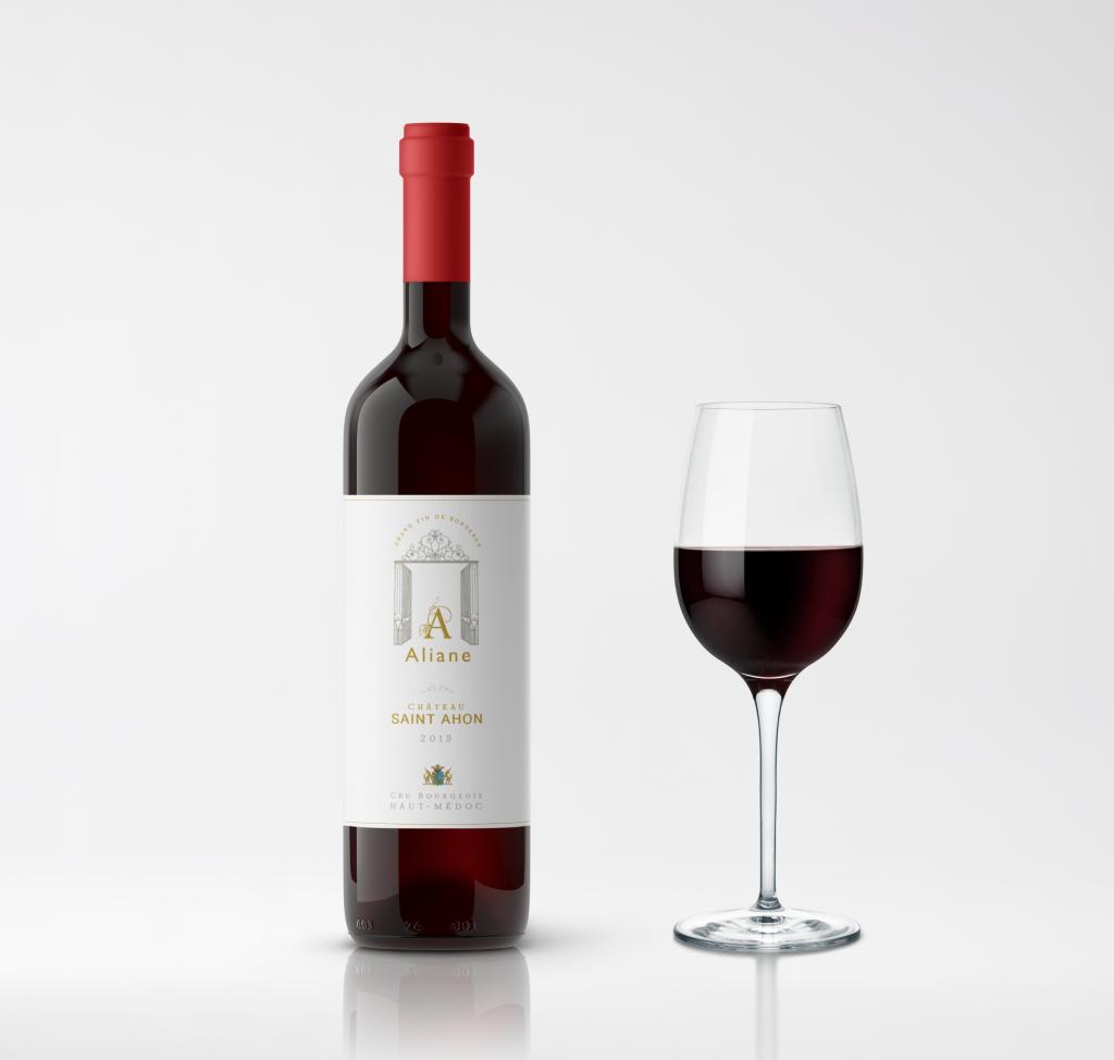 Bouteille de vin rouge Aliane Wines Chateau Saint Ahon
