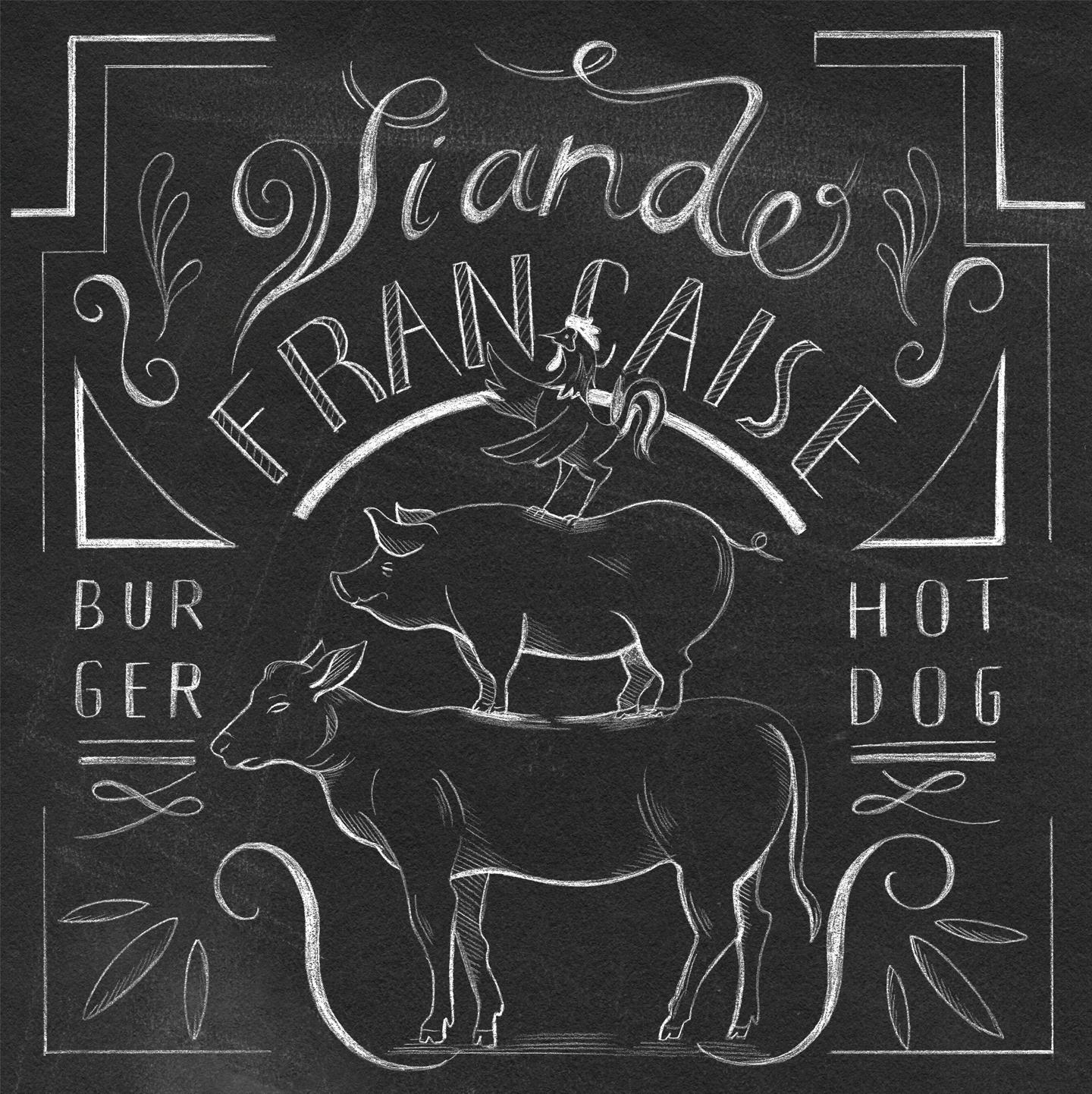 Illustration viande française