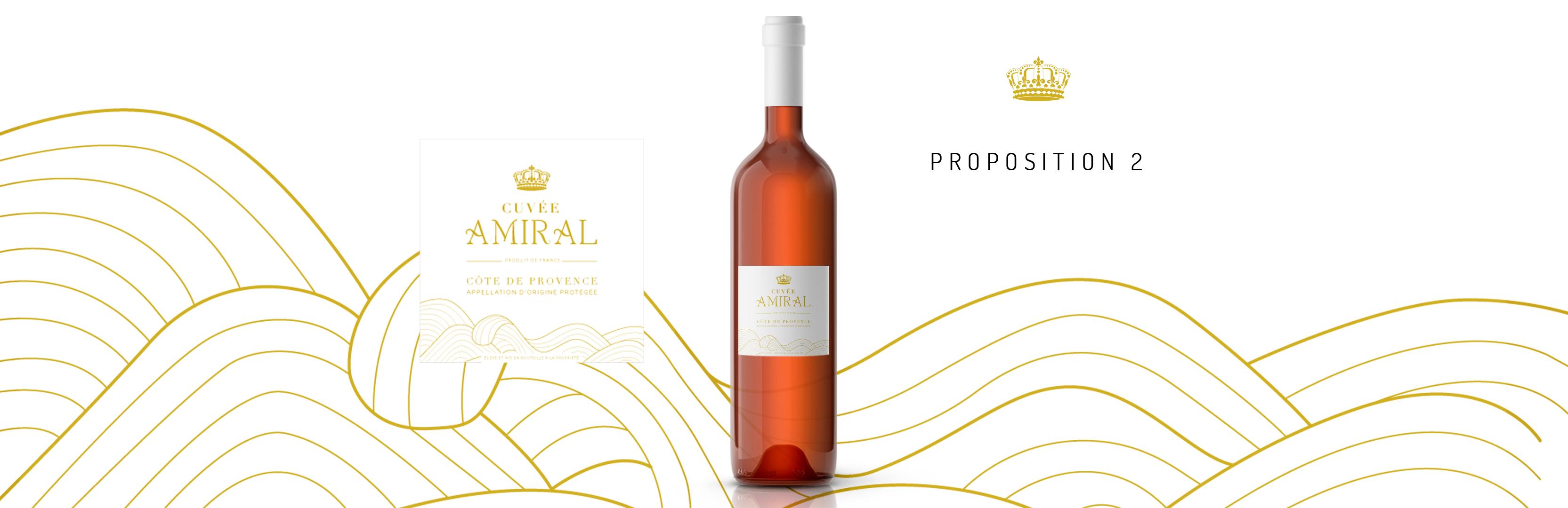 Habillage de bouteille Cuvée Amiral proposition 2