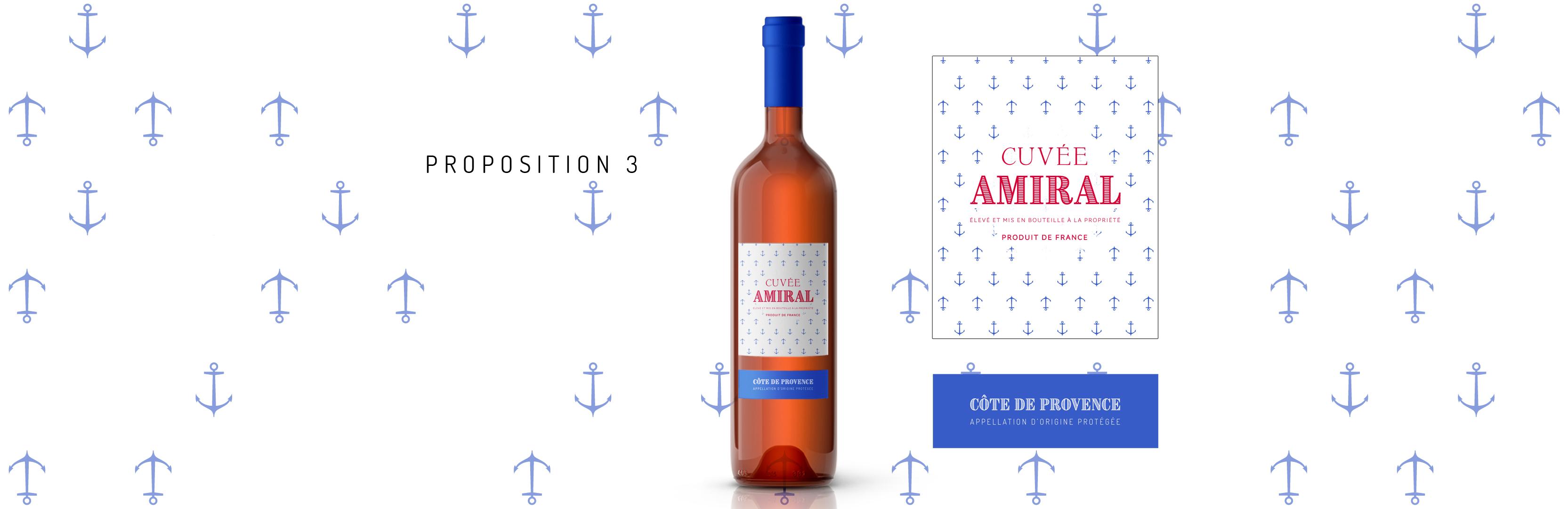 Habillage de bouteille Cuvée Amiral proposition 3