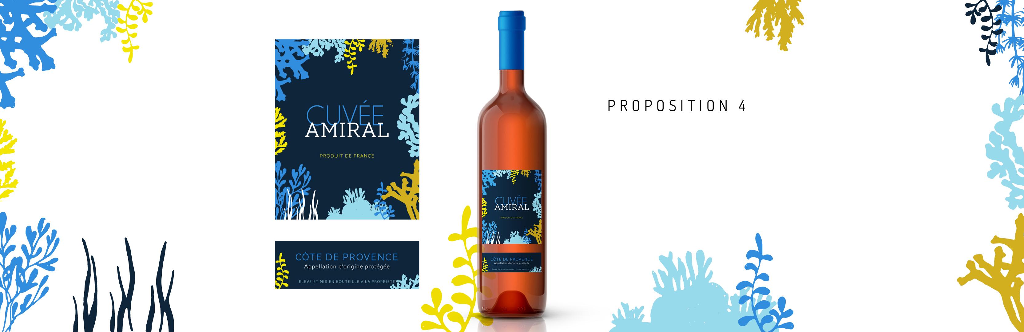 Habillage de bouteille Cuvée Amiral proposition 4