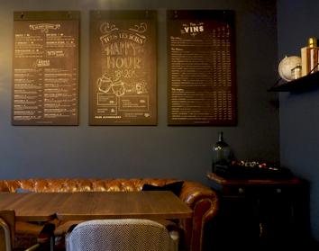 Panneaux de boissons et Happy Hour La Maison de Bois