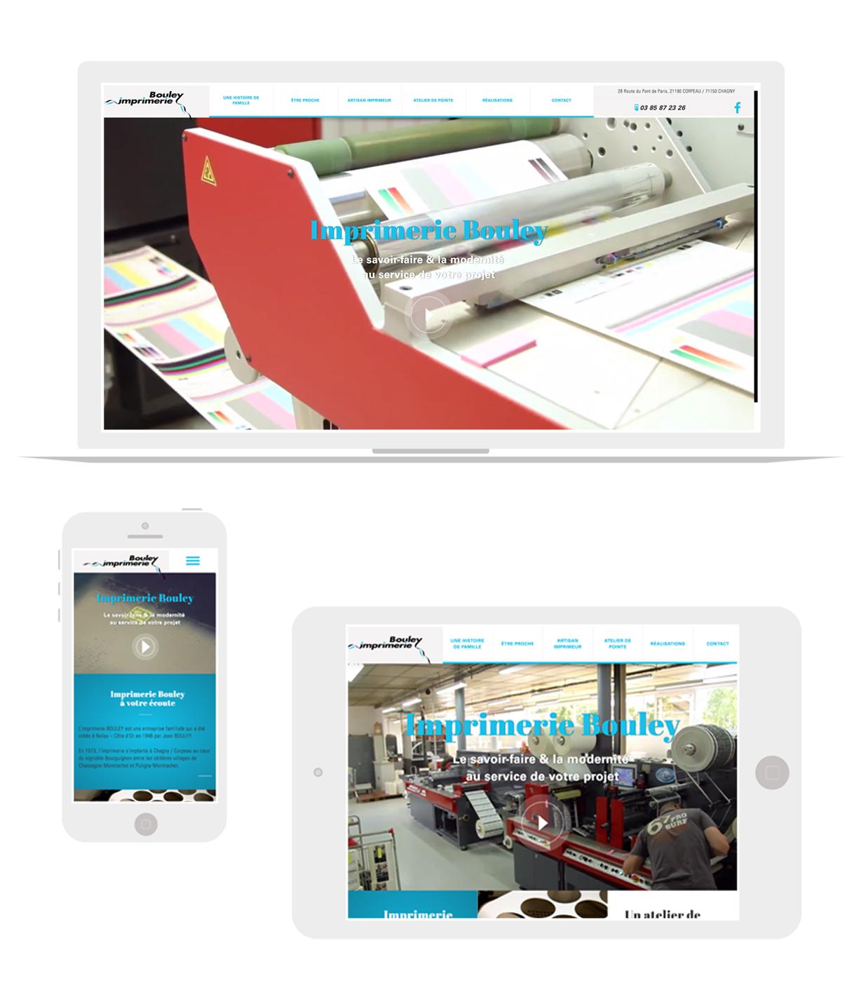 Site imprimerie Bouley responsive
