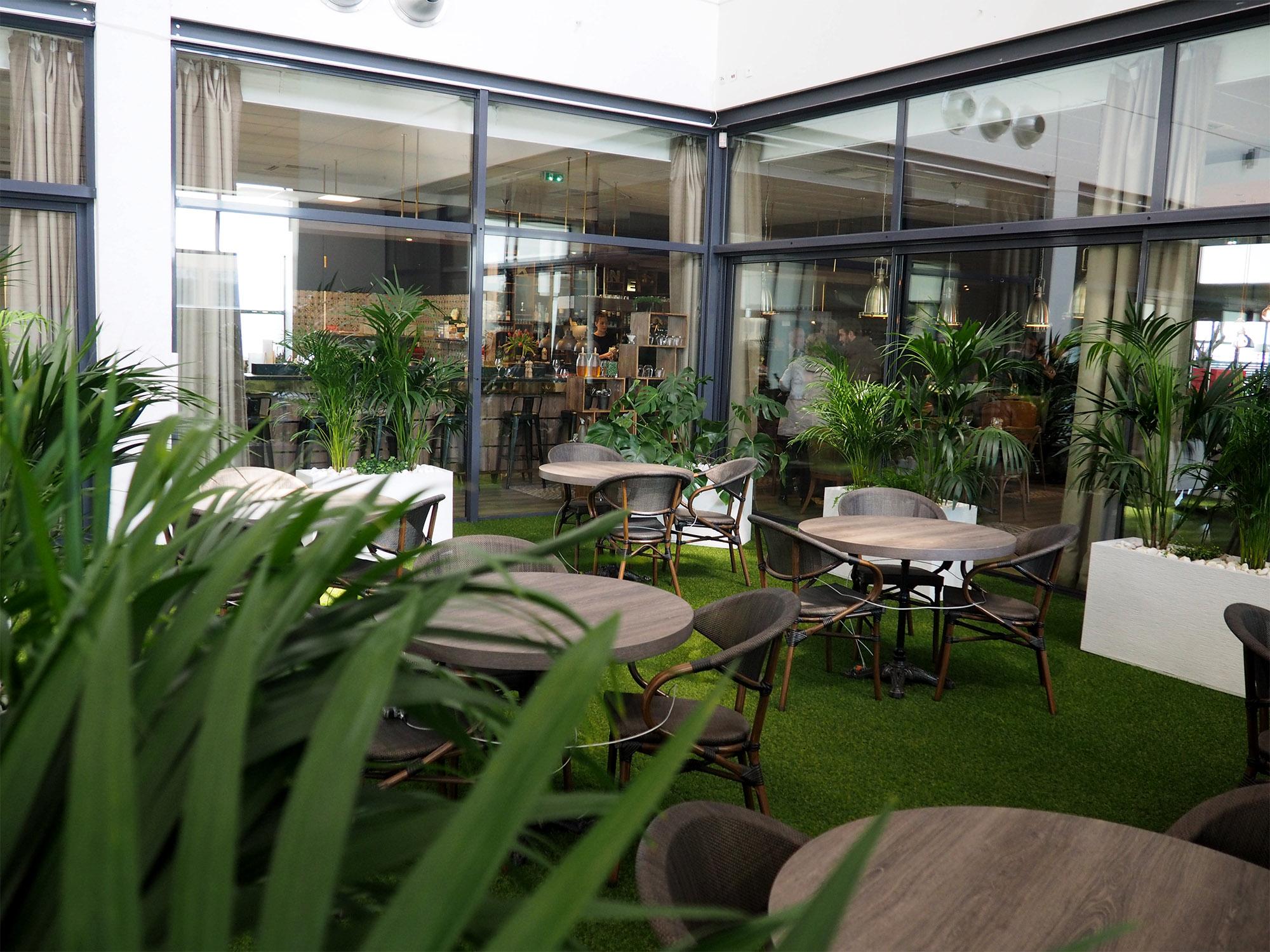 installation dans l'atrium