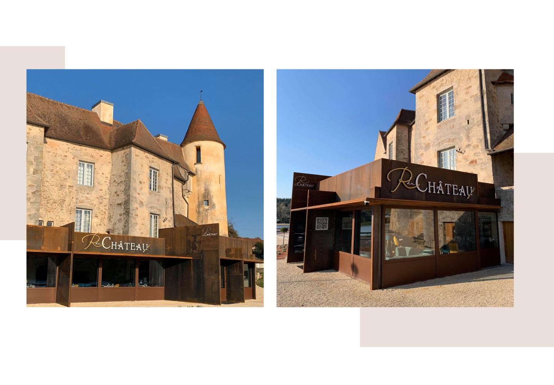 habillage façade le restaurant du château