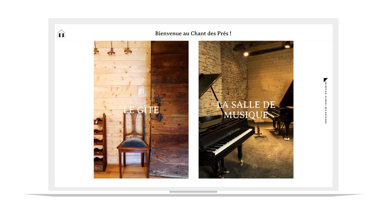 Site internet Le chant des prés
