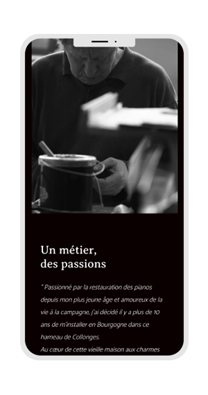 site responsive iphone le chant des prés