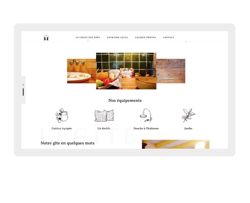 site responsive ipad le chant des prés