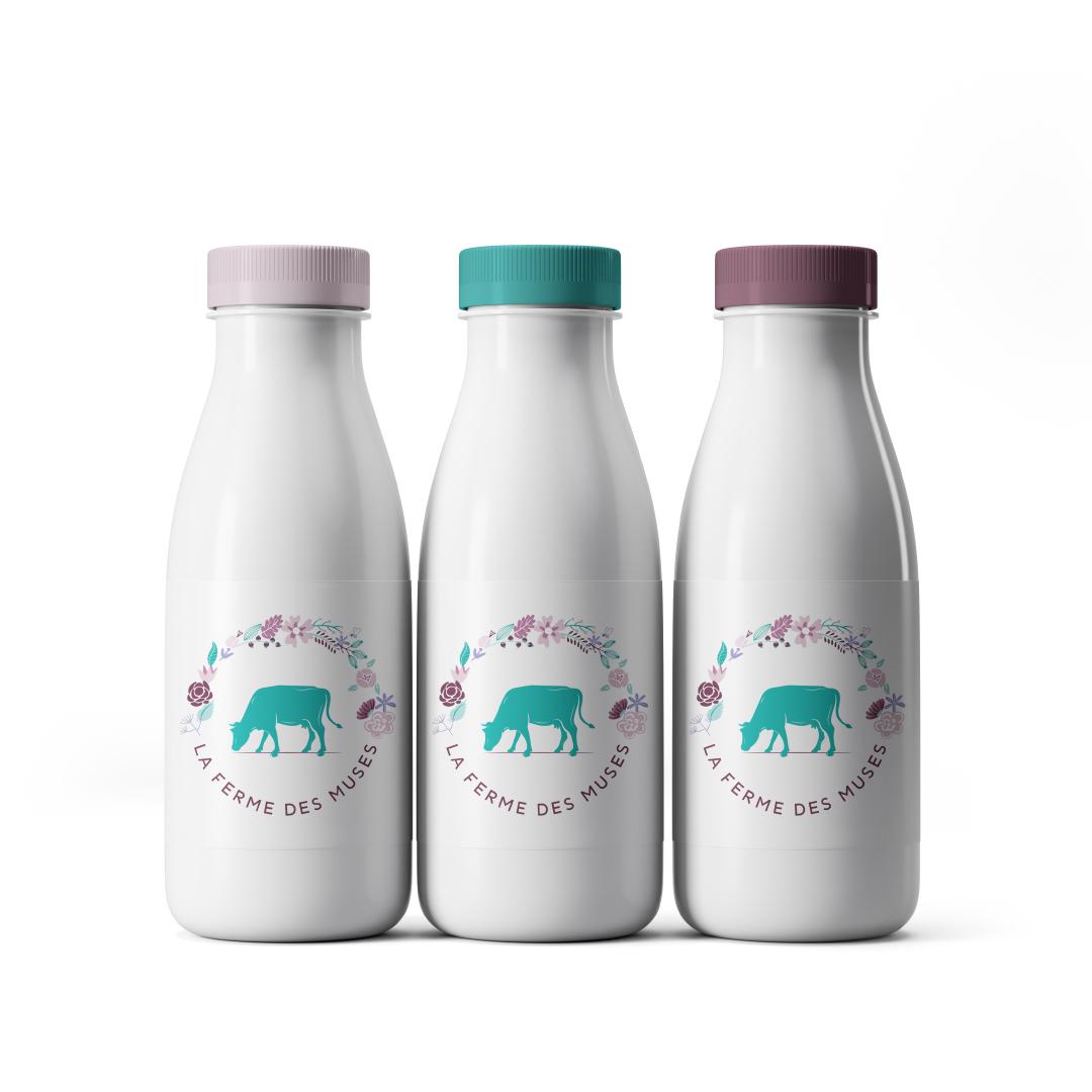 étiquette lait la ferme des muses