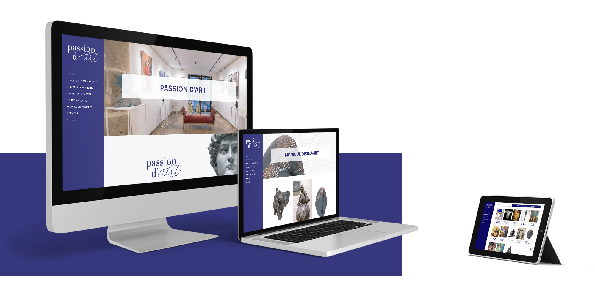mockup site web passion d'art