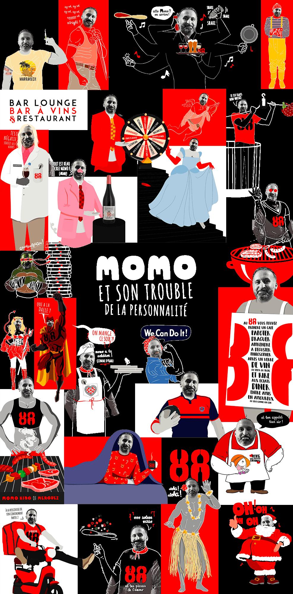 illustrations facebook momo bar le 88
