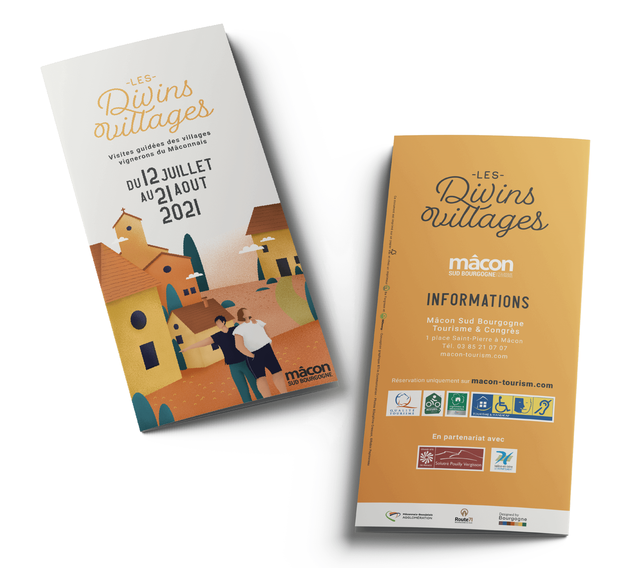 couverture flyer les divins villages Mâcon 2021