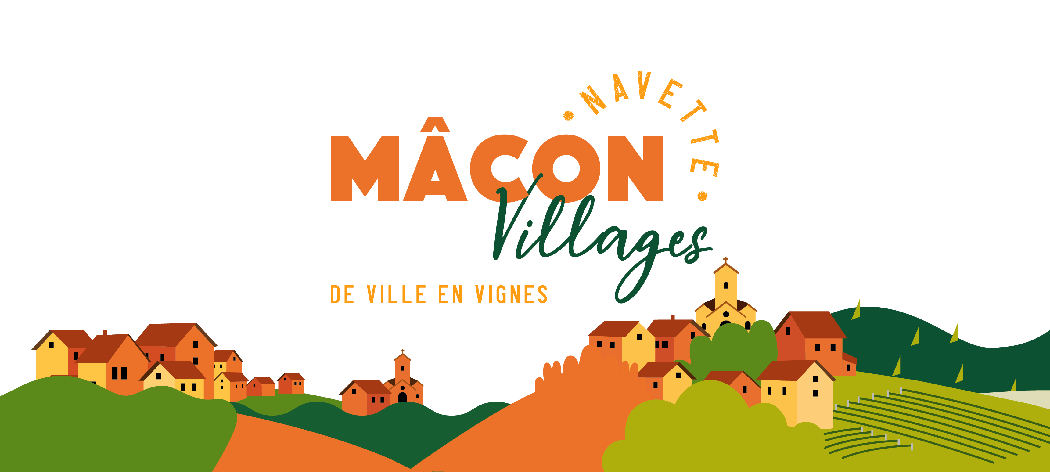 illustration navette Mâcon Villages de ville en vignes