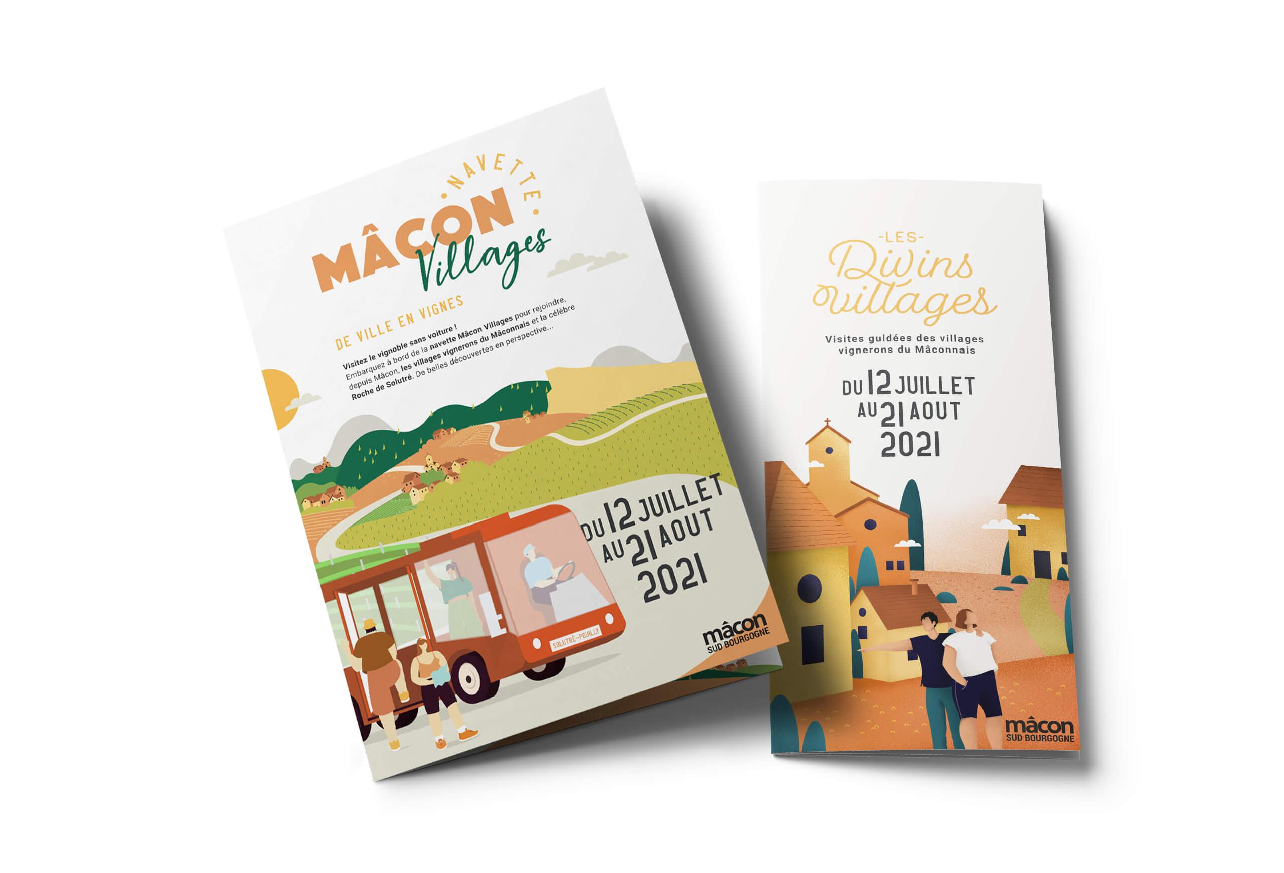 mockup brochures été de l'office de tourisme de Mâcon
