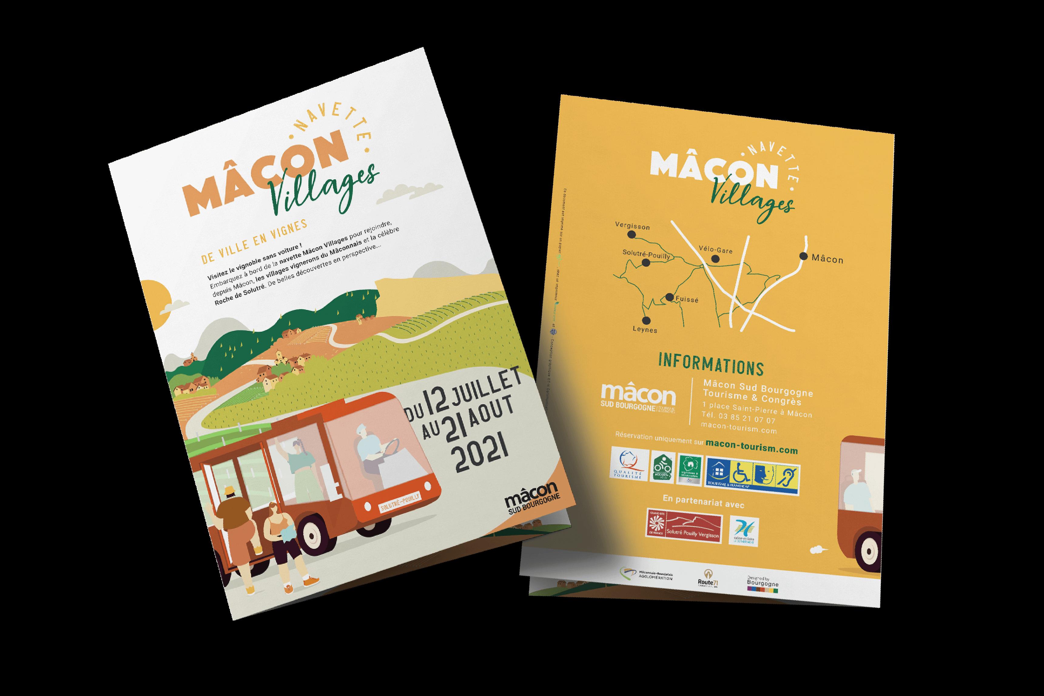 recto brochure a4 pli centrale office de tourisme de Mâcon