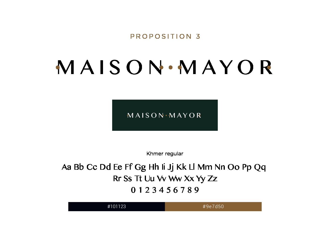 proposition 3 logo maison mayor