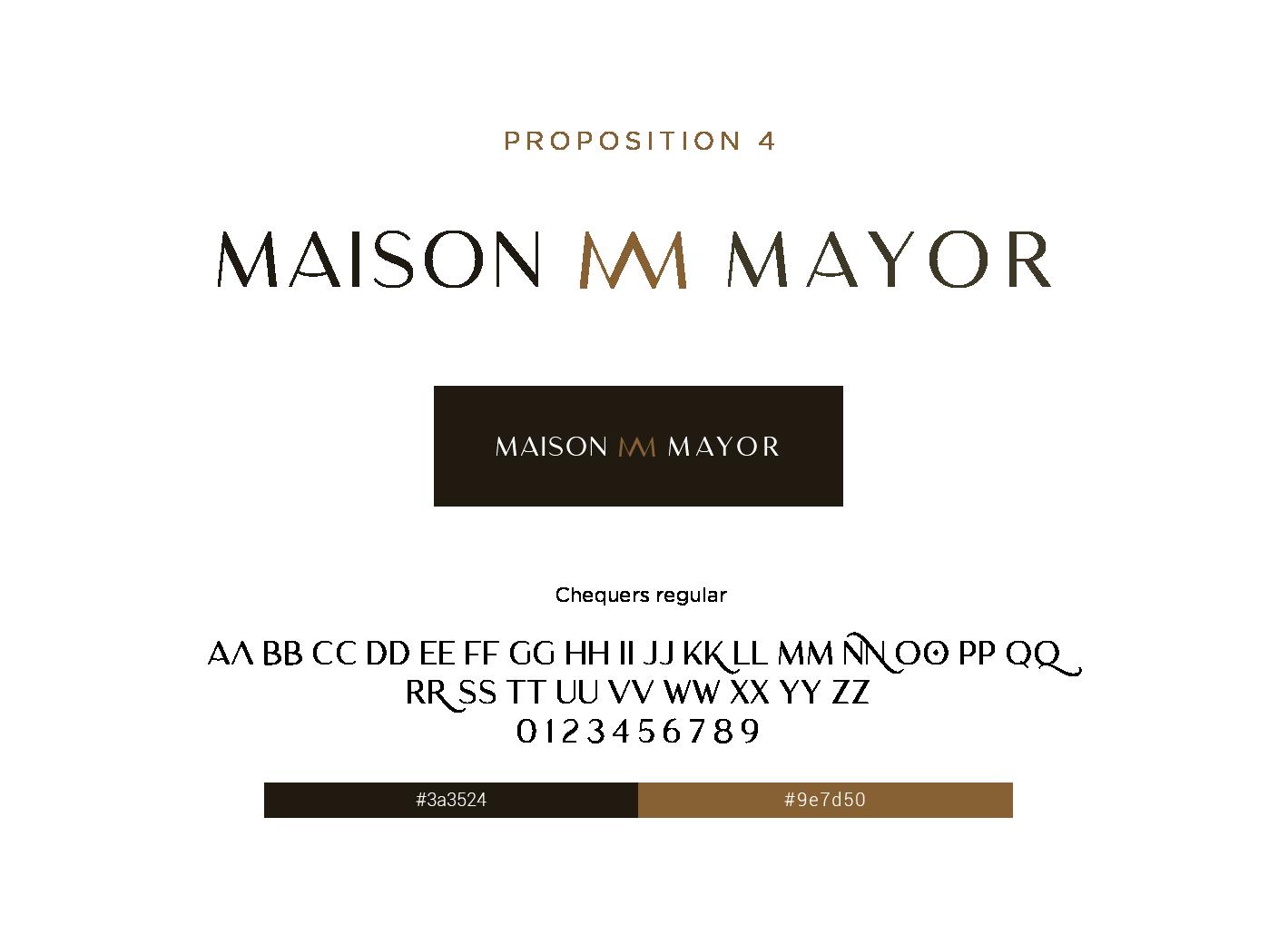 proposition 4 logo maison mayor